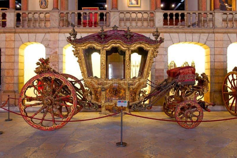 Koning Dom Joao V Bus 18de Barokke eeuw stock fotografie