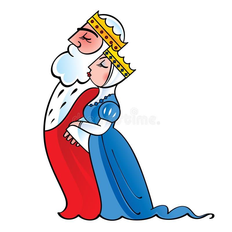 Koning en Koningin royalty-vrije illustratie