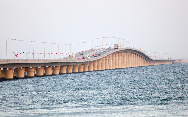 Koning Fahd Causeway in Bahrein royalty-vrije stock afbeelding