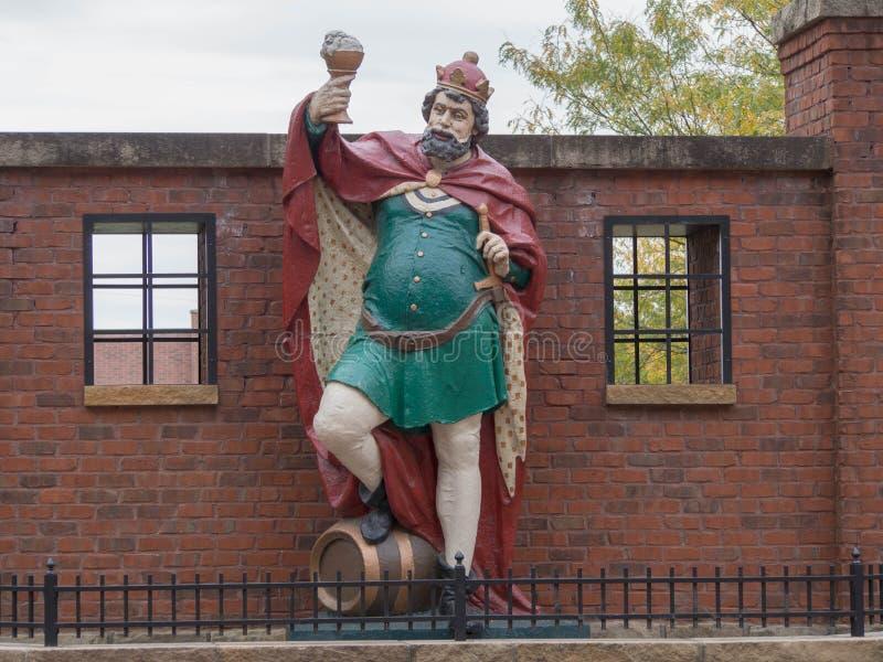Koning Gambrinus Statue royalty-vrije stock foto