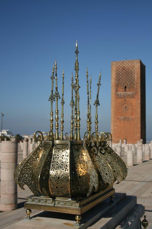 Koning Hassan Tower Marokko royalty-vrije stock foto's