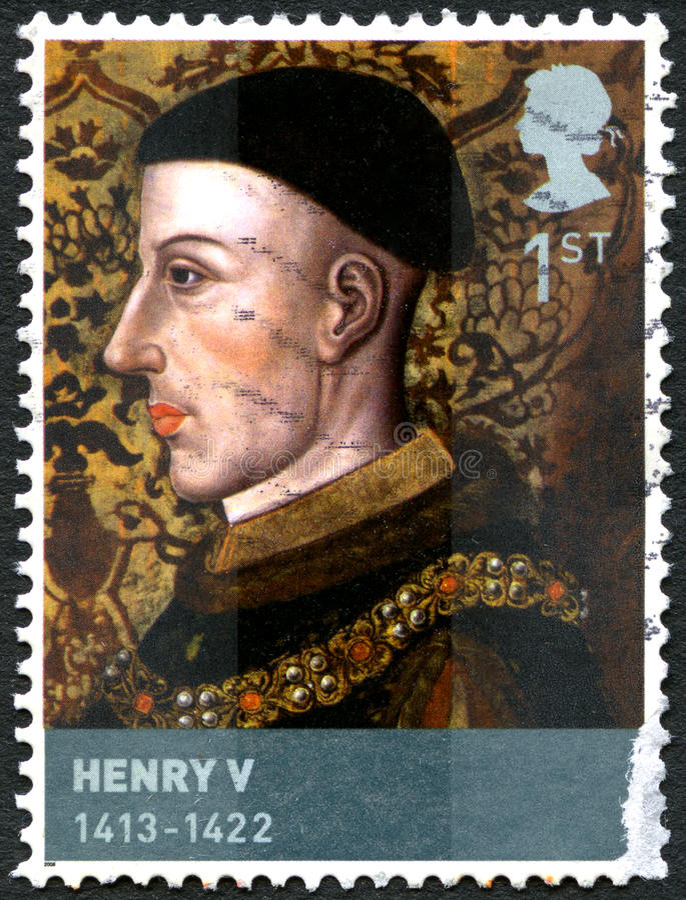 Koning Henry V Postzegel royalty-vrije stock afbeeldingen