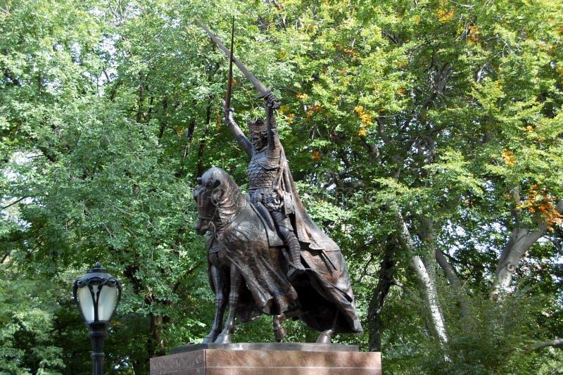 Koning Jagiello, Central Park, de Stad van New York stock afbeeldingen