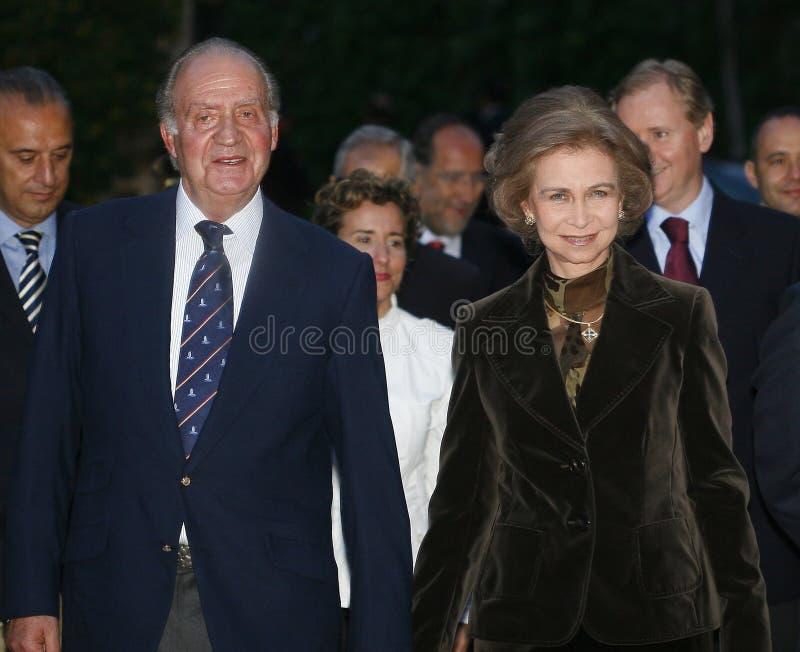 Koning juan Carlos en koningin Sofia royalty-vrije stock afbeeldingen