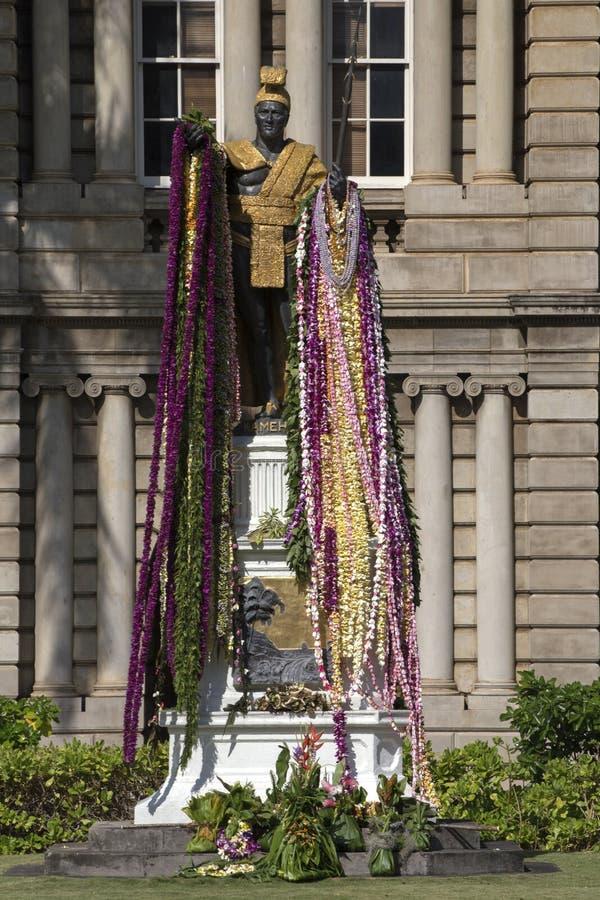 Koning Kamehameha stock afbeelding