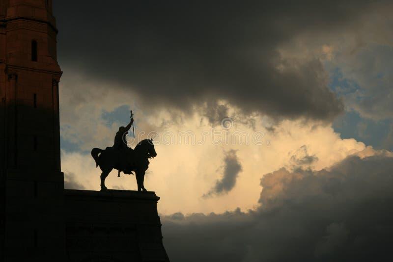 Koning Louis IX stock fotografie