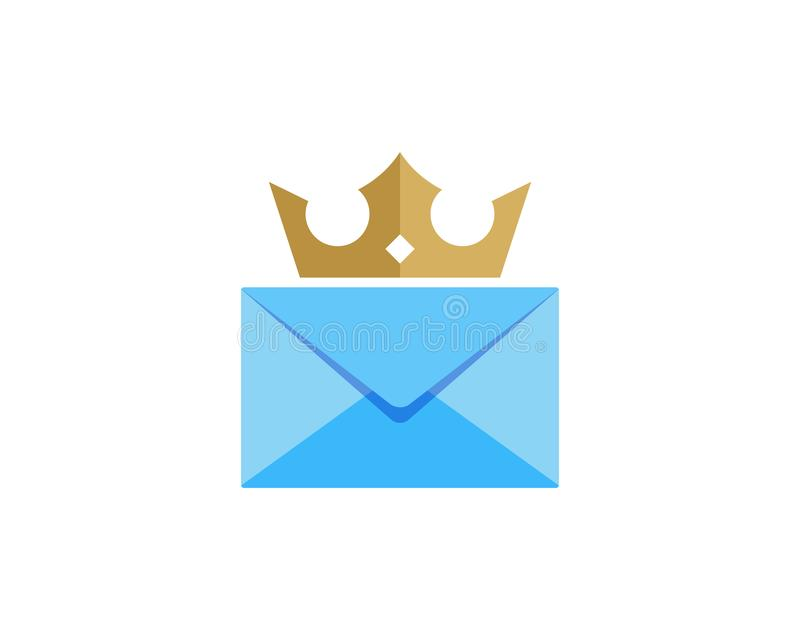Koning Mail Logo Icon Design vector illustratie