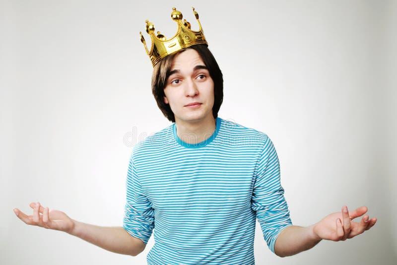 Koning met kroon royalty-vrije stock foto's