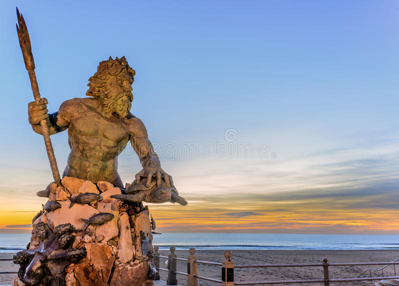 Koning Neptune bij het Park van Neptunus, Virginia Beach stock fotografie