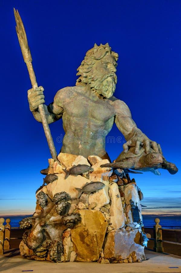Koning Neptune bij het Park van Neptunus, Virginia Beach royalty-vrije stock foto's