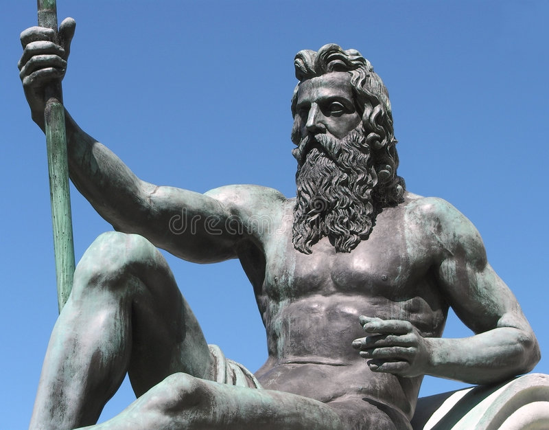 Koning Neptunus royalty-vrije stock afbeelding