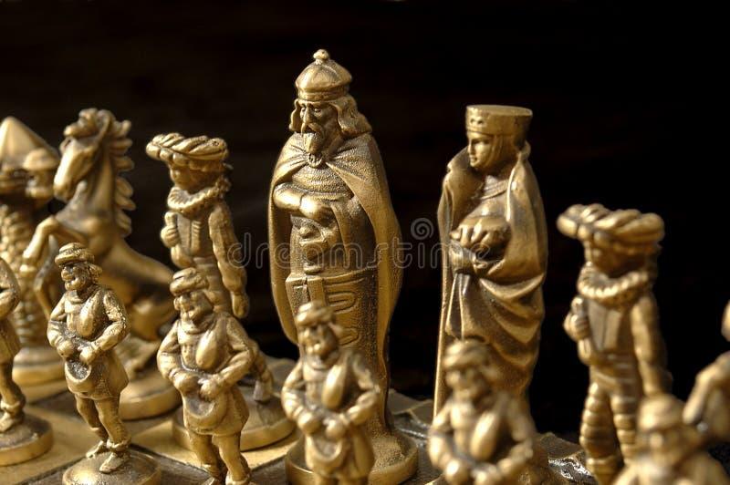 Koning op Zwarte stock afbeelding