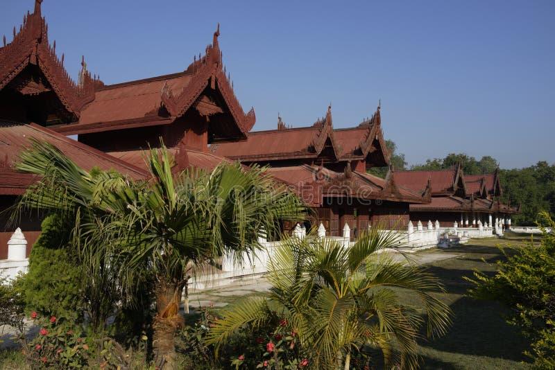 Koning Palace in Mandalay, Myanmar (Birma) royalty-vrije stock afbeeldingen