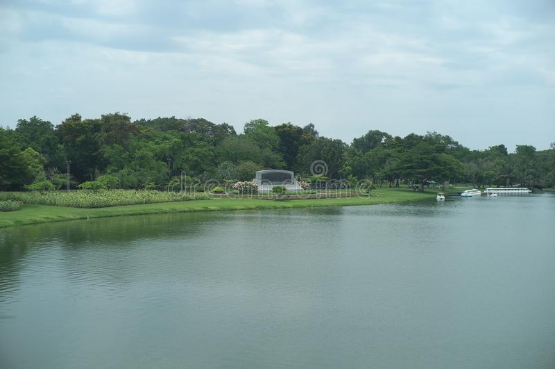Koning Rama IX Openbaar Park royalty-vrije stock afbeeldingen