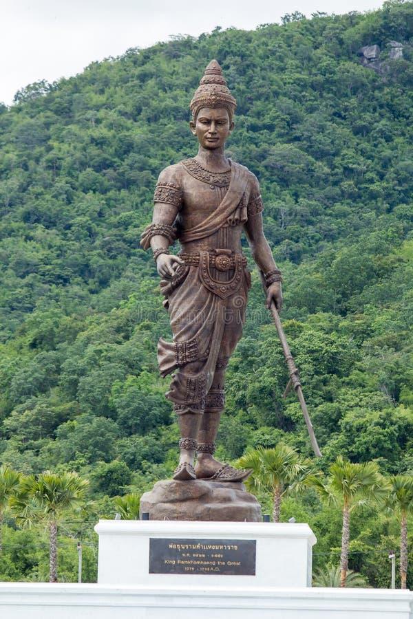 Koning Ramkhamhaeng Sukhothai één van grote koning zeven 7 bij Ratchapak-Park, Hua Hin, Prachuap Khiri Khan, Thailand stock fotografie
