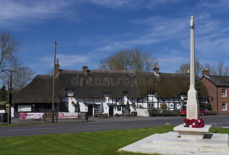 Koning ` s Somborne, Hampshire Engeland royalty-vrije stock fotografie