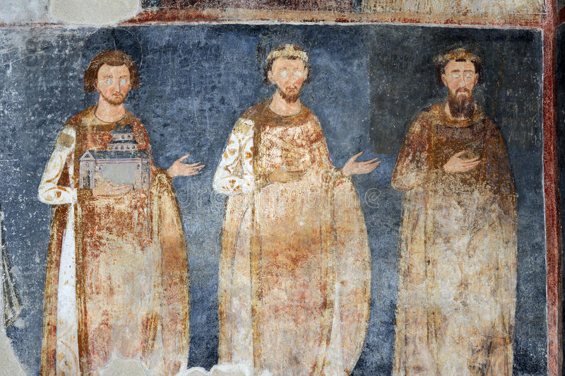 Koning Stefan Radoslav, Vladislav en Prvovencani royalty-vrije stock foto