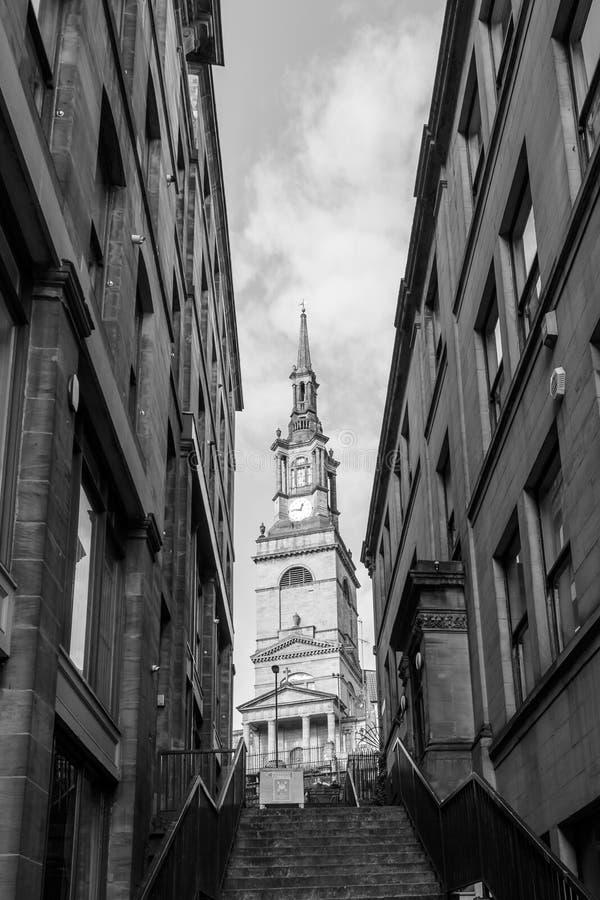 Koning Street B Newcastle op de Tyne stock foto's
