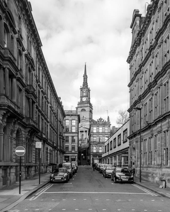 Koning Street Newcastle op de Tyne stock afbeelding