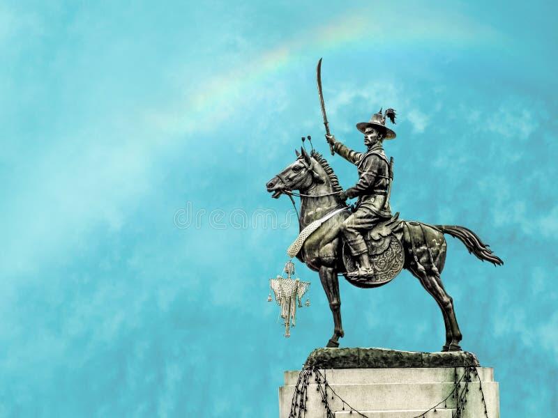 Koning Taksin van de Onafhankelijke Redding royalty-vrije stock afbeeldingen