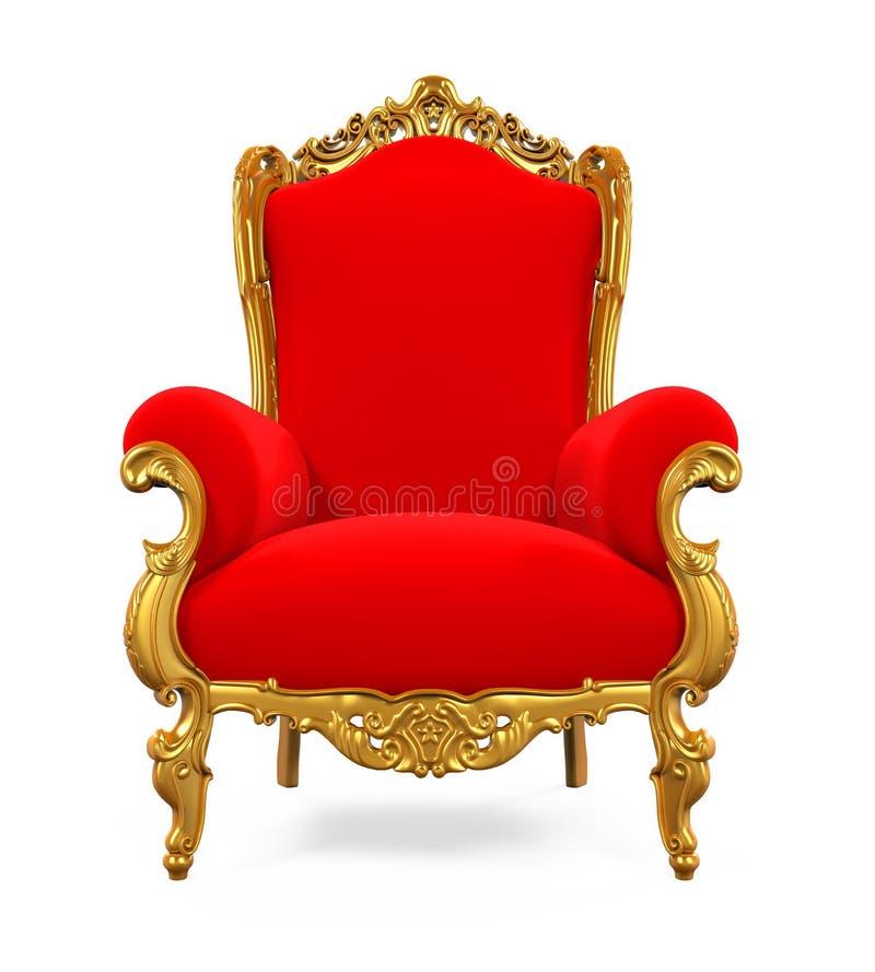 Koning Throne Chair royalty-vrije illustratie