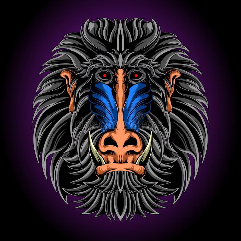 Koning van aap royalty-vrije illustratie