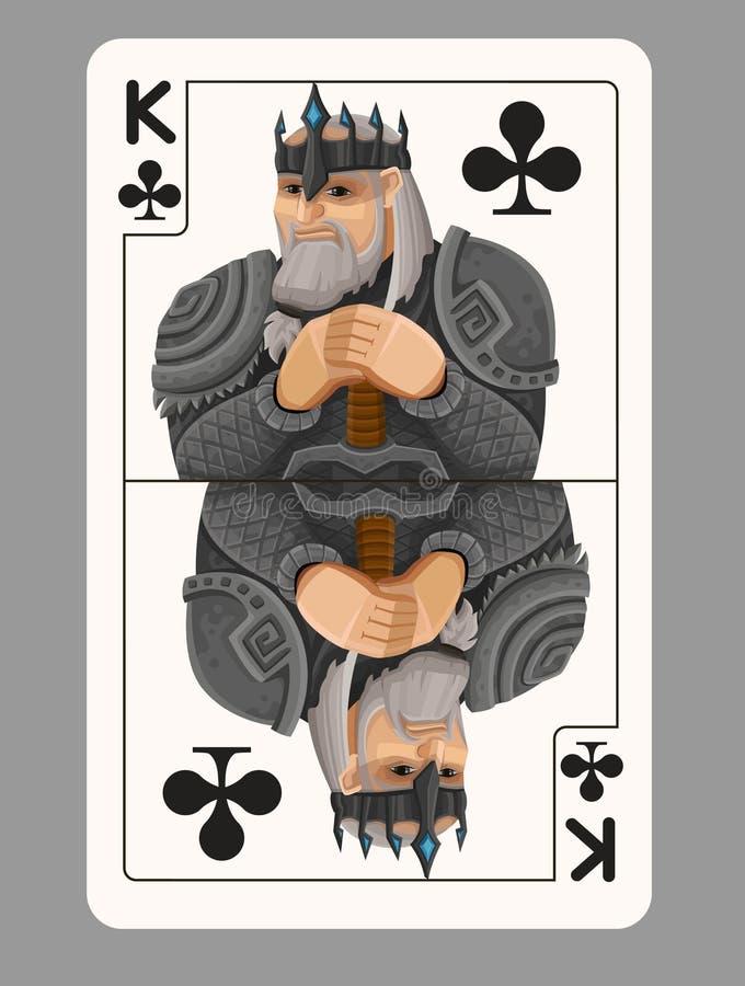 Koning van clubsspeelkaart vector illustratie