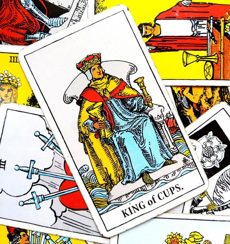 Koning van de kaart van het koppentarot royalty-vrije illustratie