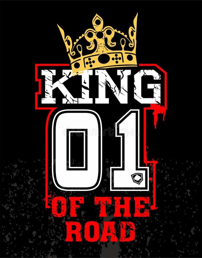 Koning van de Weg royalty-vrije illustratie