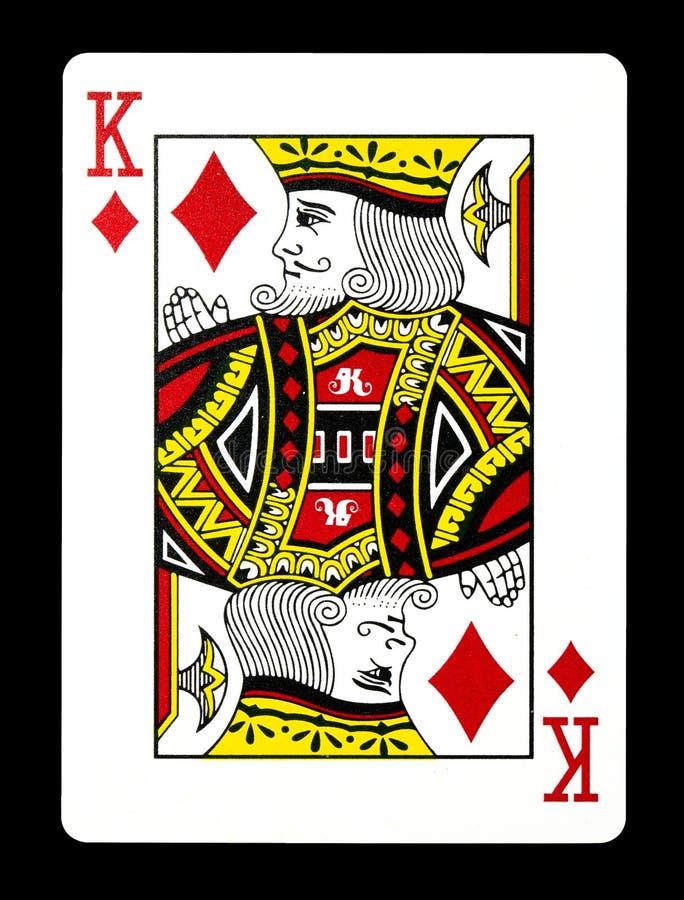Koning van Diamantenspeelkaart, stock afbeeldingen