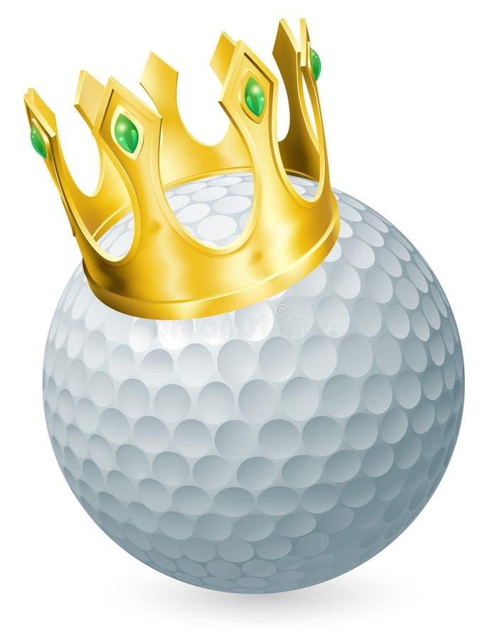 Koning van golf royalty-vrije illustratie