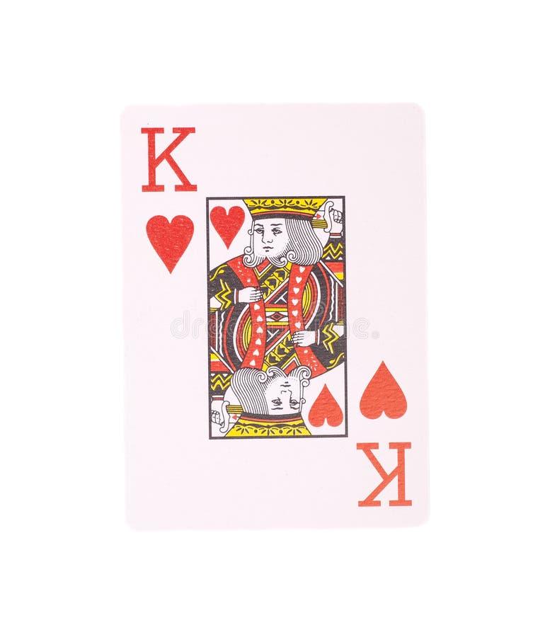 Koning van hartenspeelkaart royalty-vrije stock fotografie
