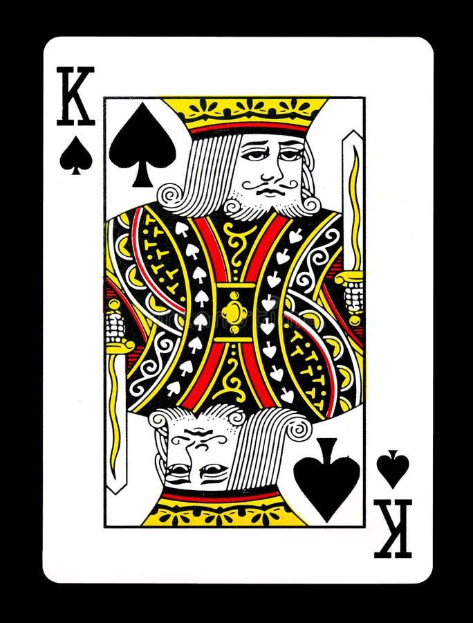 Koning van spadesspeelkaart, stock afbeelding