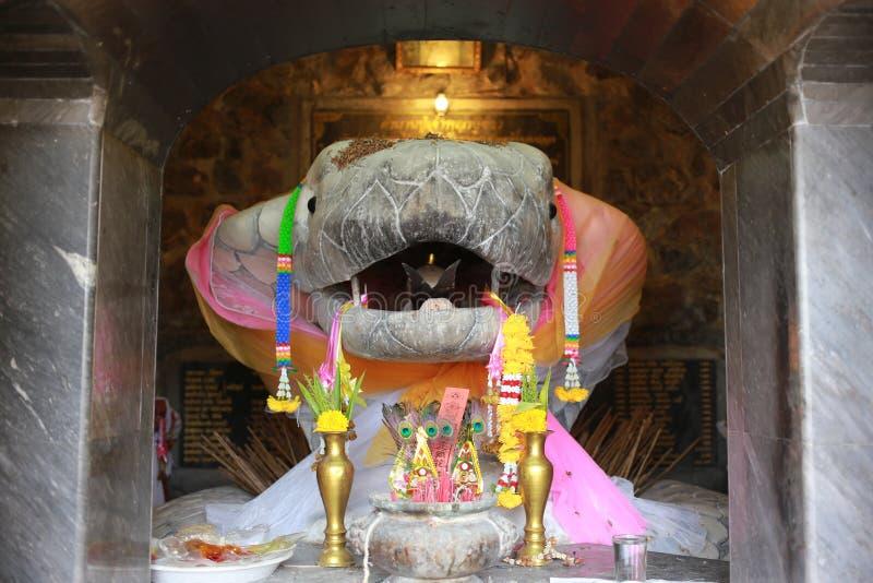Koning van Wit Slangstandbeeld royalty-vrije stock afbeeldingen