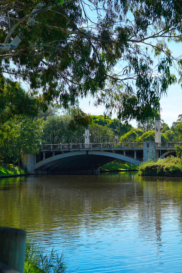 Koning William Road Bridge, Adelaide, Zuid-Australië stock afbeeldingen