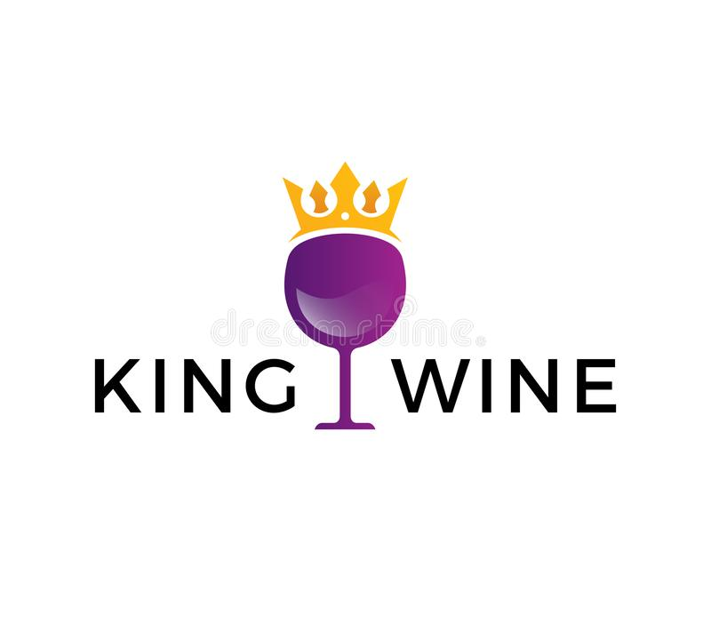 Koning Wine Logo vector illustratie