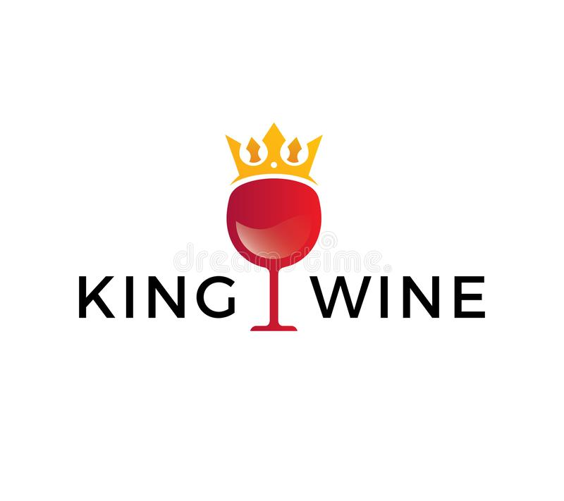 Koning Wine Logo Template vector illustratie