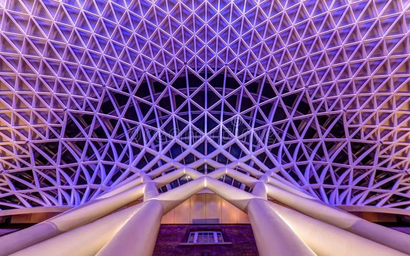 Koningen Dwarsarchitectuur, Londen stock foto's