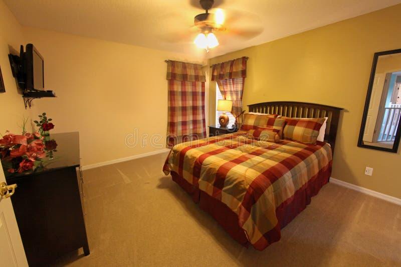 Koningin Bedroom stock foto's