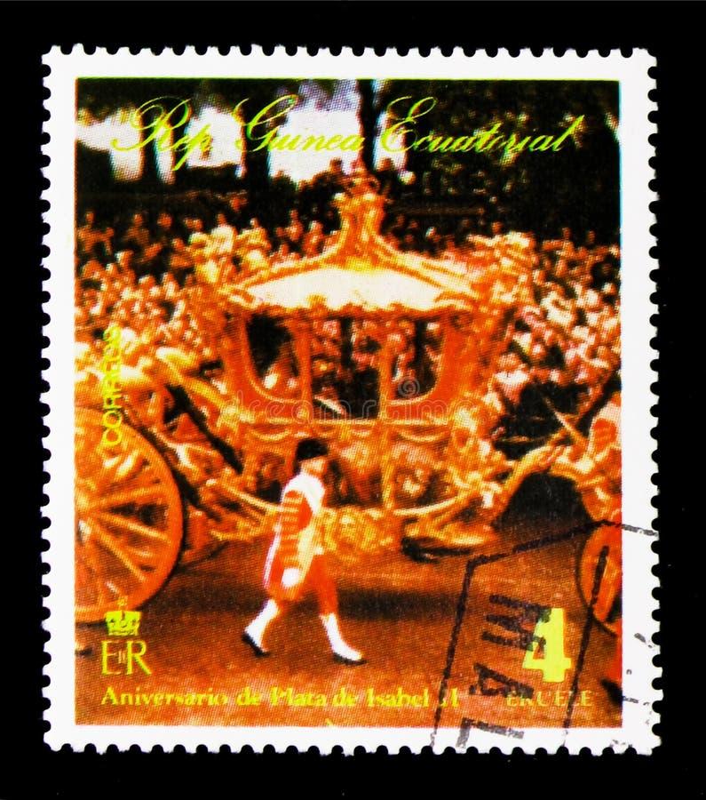 Koningin Elizabeth II bij een openbare gelegenheid, Elizabeth II, 25ste Coro royalty-vrije stock foto's