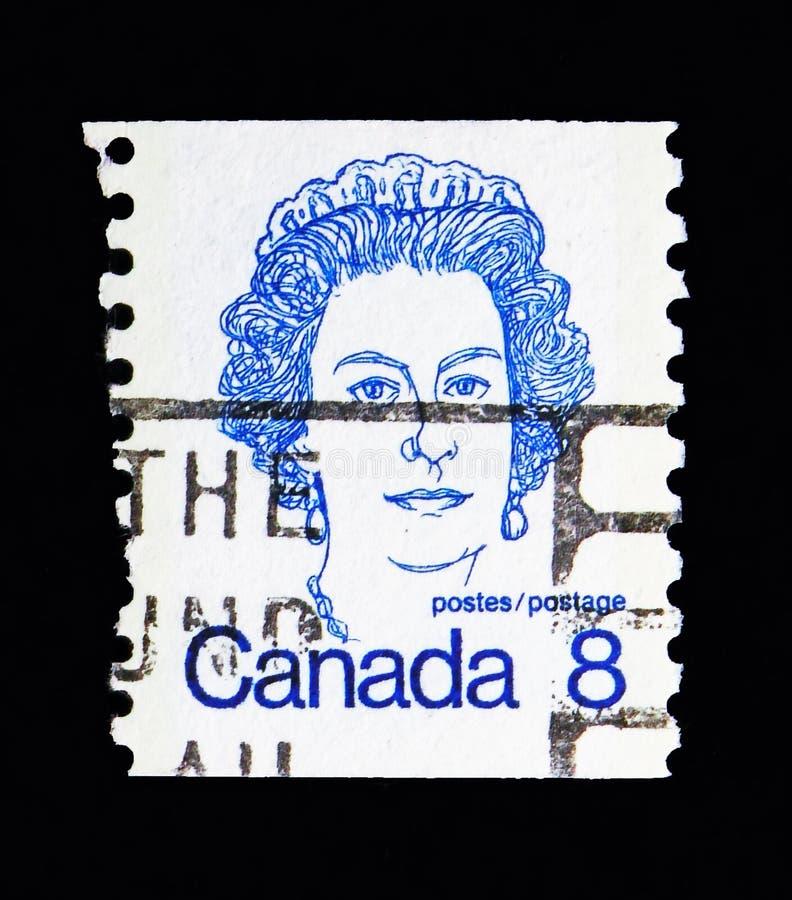 Koningin Elizabeth II, Canadese Eerste ministers en Koningin Elizabeth stock afbeelding