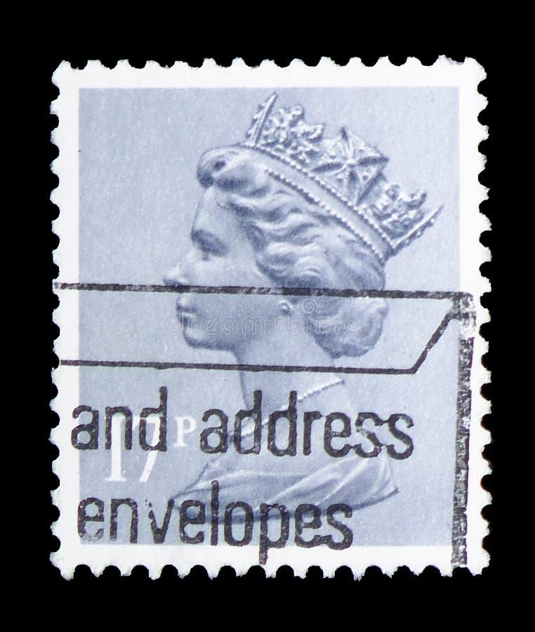 Koningin Elizabeth II - Decimale Machin serie, circa 1983 stock fotografie