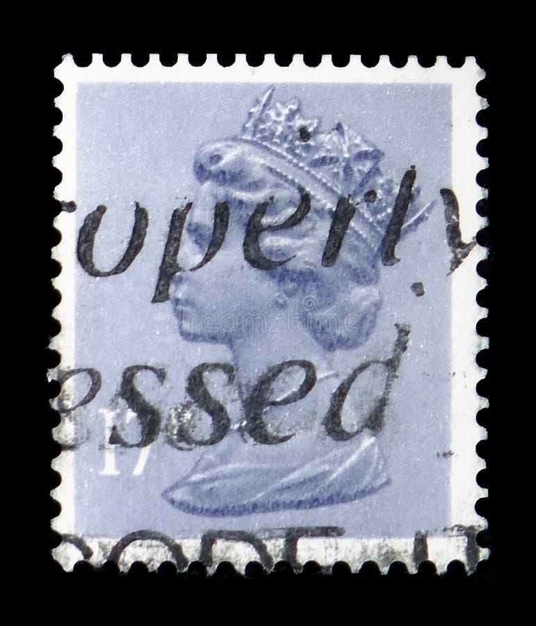 Koningin Elizabeth II - Decimale Machin serie, circa 1983 stock afbeeldingen