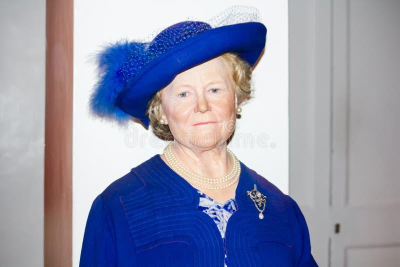 Koningin Elizabeth The Queen Mother stock afbeelding