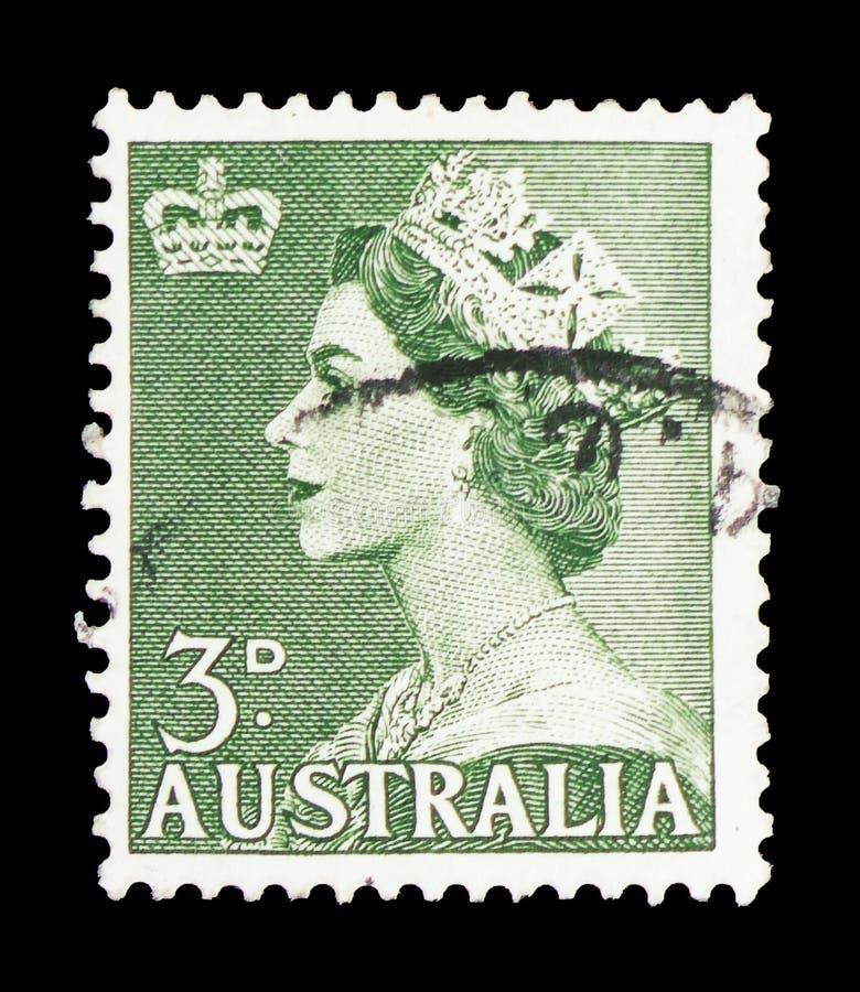 Koningin Elizabeth, serie, circa 1953 royalty-vrije stock afbeelding