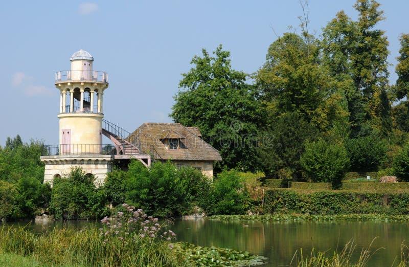 Koningin Hamlet in het park van het Paleis van Versailles stock fotografie