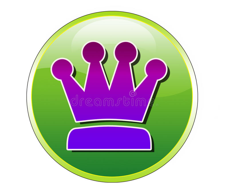 Download Koningin Icon stock illustratie. Illustratie bestaande uit ornate - 39118067