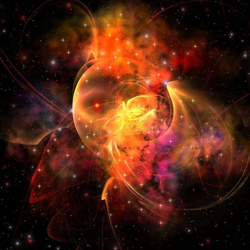 Koningin Nebula royalty-vrije illustratie