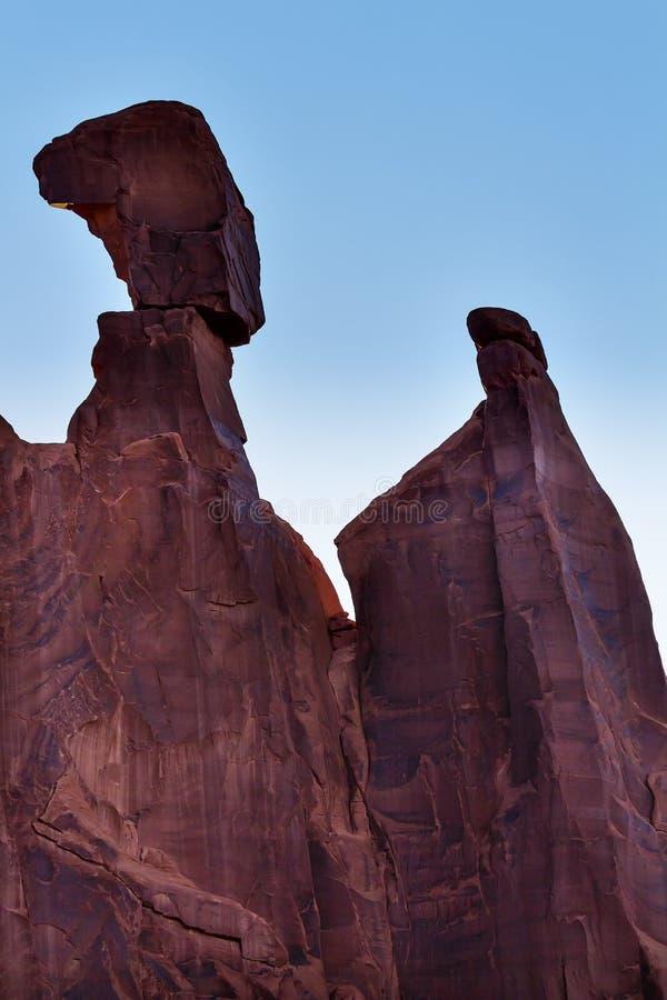 Koningin Nefertiti Rock Arches National Park Moab Utah royalty-vrije stock afbeeldingen