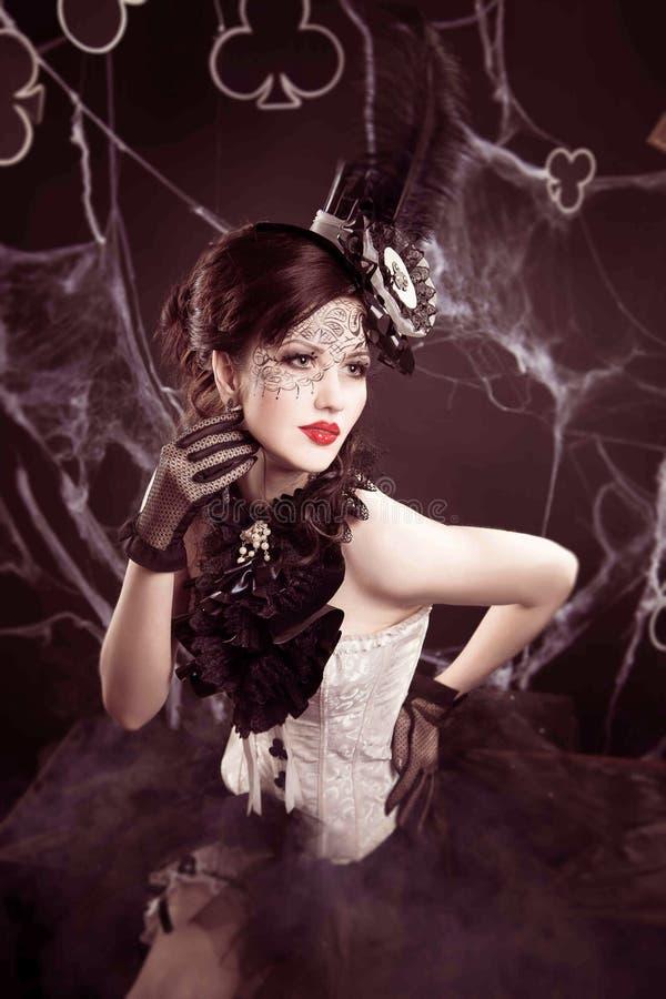 Koningin van clubs stock fotografie